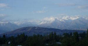 Blick auf Kirgisistan
