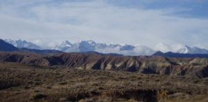 Kirgisistan-Berge am Issykul-See