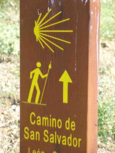 """Abzweig zum """"Camino de San Salvador"""" von León nach Oviedo"""