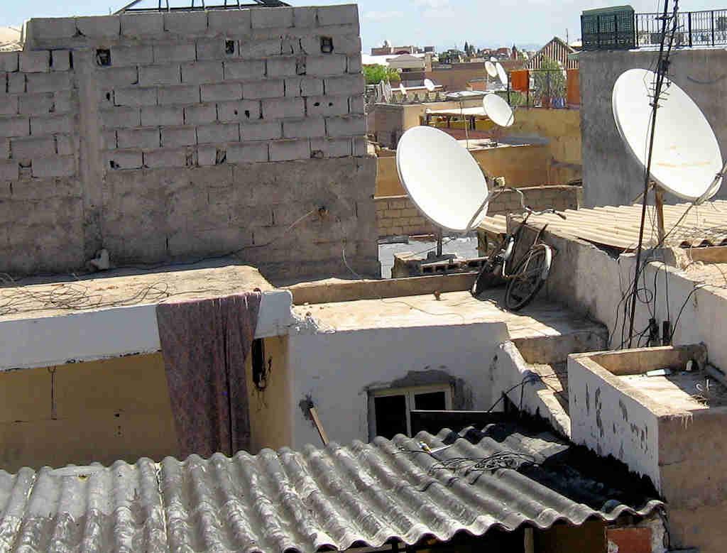 """Marrakesch/Marokko: """"Hoch-Sicherheits-Trakt"""" - Diebstahlsicherung Fahrrad in luftiger Höhe"""